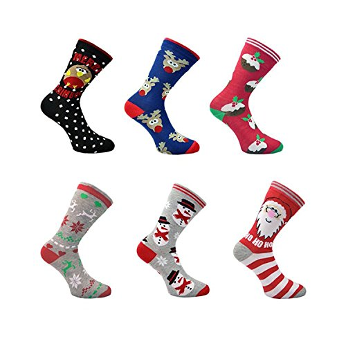 3x Pairs of Mens or Ladies Christmas Design Novelty...