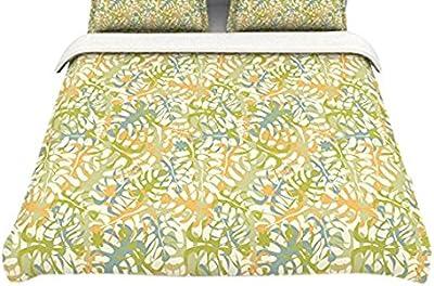 88 X 88 KESS InHouse KESS Original New York Orange Black Queen Comforter