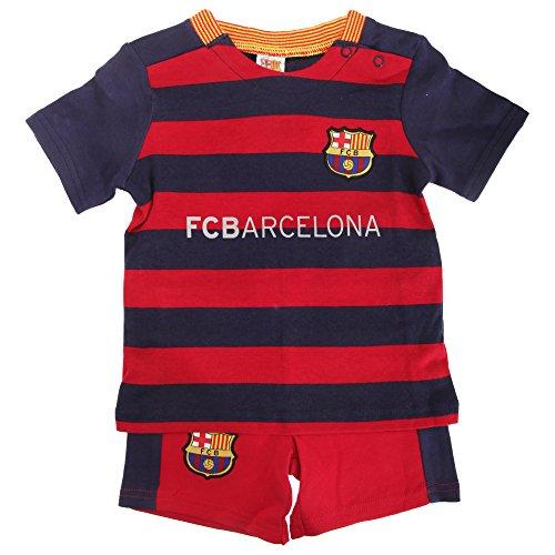 FC Barcelona - Ensemble t-shirt et short officiel - Bébé (9-12 mois) (Rouge/Bleu)
