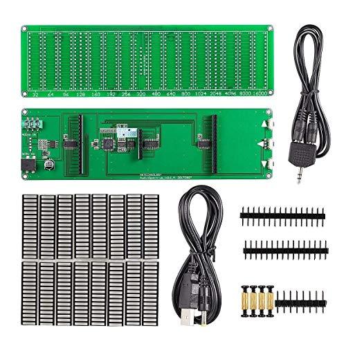 Nobsound | Indicatore di livello Audio Spectrum LED 16x16 | Schermo VU | Analisi per amplificatori Audioktrum (Kit DIY)