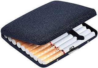 صندوق سجائر عصري يتسع إلى 20 سيجارة، حماية ضد الماء و الضغط، لون اسود، مناسبة كهدية للرجال