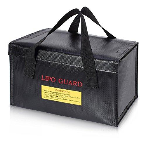 ENGPOW Lipo Battery Bag Fireproof Safe Explosionssicherer Organizer für Lipo Battery Storage und Ladebox, großer Feuer- und wasserdichter, drahtloser Ladegerät Drohne Battery Power Bank Guard Holder