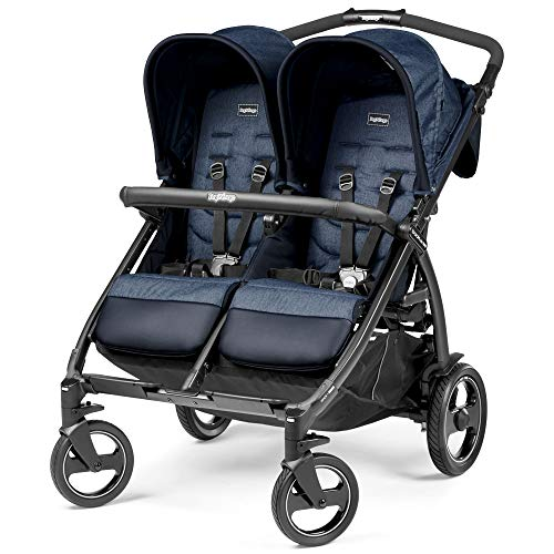 Peg Perego Book For Two, Passeggino Gemellare Compatto, Indigo, 14.12 kg