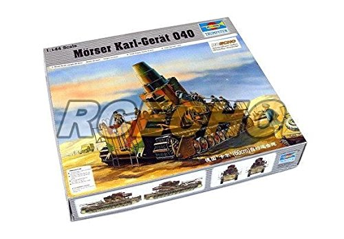 RCECHO® Trumpeter Military Model 1/144 Morser Karl-Great 040 Scale Hobby 00101 P0101 with 174; Full Version Apps Edition