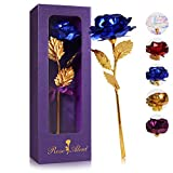 24K Blue Rose Flower Gifts for Women with Luxury Gift Box,Artificial...