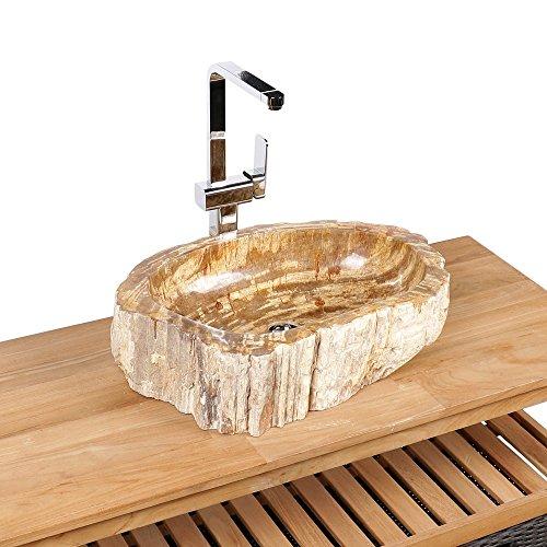 Lavandino Fossiles legno marrone 60x 40x 15cm