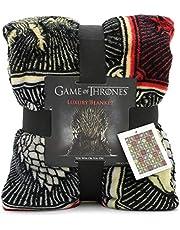 Game of Thrones Gifts Merchandise GOT Manta súper suave para cama Stark Lannister Targaryen Greyjoy Baratheon Tyrell Great House Symbols Westeros