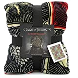 Game of Thrones Gifts Merchandise GOT Coperta super morbida copriletto Stark Lannister Targaryen Greyjoy Baratheon Tyrell Great House Symbols Westeros