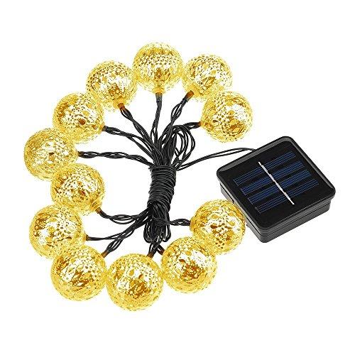 Patech イルミネーションライト LEDストリングライト ソーラーライト 防水IP64 お庭やベランダ/玄関/お店周り/広場/街路樹/クリスマス/パーティー/結婚式などの装飾用(12個LEDライト )