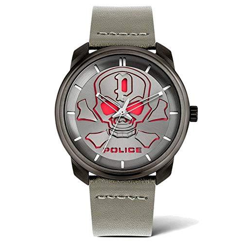 Police Reloj Analógico para Unisex Adultos de Cuarzo con Correa en Cuero PL15714JSU.61