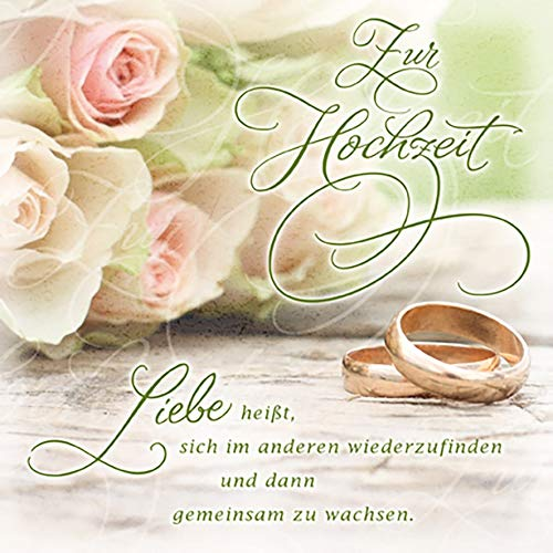 Hochzeitskarte Romantica - Ringe - 15 x 15 cm