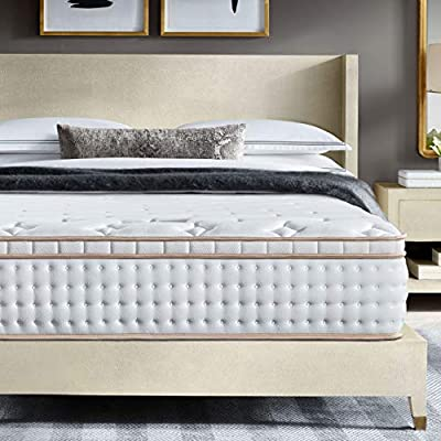 BedStory 12 Inch Queen Size Mattress, Luxury Hybrid Mattresses Medium Firm Support with Individually Encased Spring Coils & Gel Memory Foam, Bed Mattress in A Box