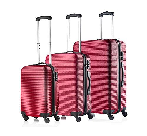 Travelz Horizon harde schalen ABS kofferset - reiskoffer - bagageset trolley (rood)