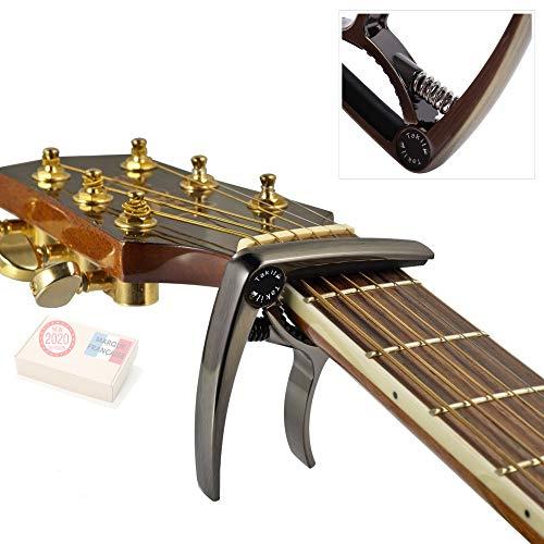 TAKIT Capodastre pour Guitare Acoustique et Electrique - GARANTIE À VIE - Qualité professionnelle - Bronze