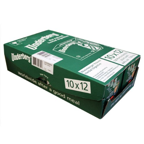 Underberg Natural Herbal Digestive Aid, 10 boxes of 12ct, 20ml each. 120ct tota