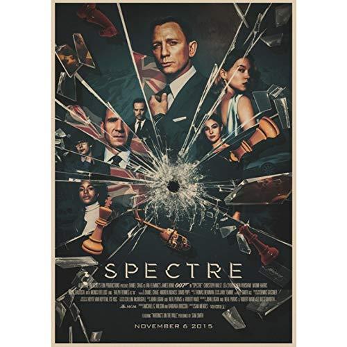 manyaxiaopu James Bond 007 Series Pierce Brosnan Classic Movies Arredamento per La Casa Decorazione Carta Kraft Poster Pittura Decorativa A3 40X60Cm
