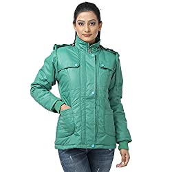 Finery Womens Self Design Polyester Winter Jacket