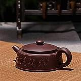 ZQADTU Juego de té de Arena púrpura Taza de Viaje Tazón Juego de té de Oficina Tetera de Tetera de Arena púrpura Hecha a Mano Taza de té Ceremonia del té de Gaiwan Tetera Exquisita