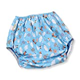 Rearz - Waterproof Flannel Adult Diaper Cover (Blue - Airplanes) (Large)