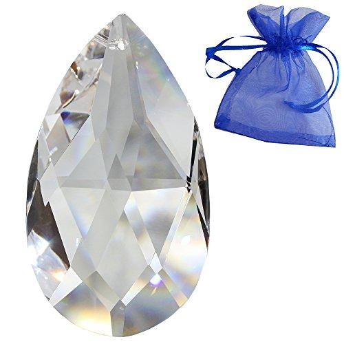 Christoph Palme Leuchten Kristall Wachtel Länge 76mm Regenbogenkristall Feng Shui Fensterschmuck spirituelle Lichtblitze 30% Bleikristall Kristall-Behang Kristallglas