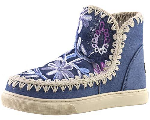 MOU Summer Eskimo Sneaker Denim Flow - Botas para Mujer, 36 EU