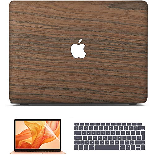Belk MacBook Air 13 inch Case 2020 2019 2018 Release Model A2179 A1932 with Retina Display,Slim Soft Wood Hard Shell Cover + Keyboard Cover + Screen Protector, MacBook Air 2020 Case, Cherry