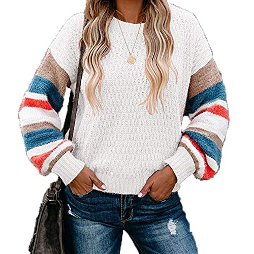 2YD8WH6 Herbst/Winter Plus Size Strickpullover NäHen Rundhals Pullover Frauen