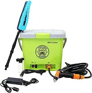 Dyconn Faucet HPPWS-12V Portable Pressure Washer System for Car Wash, 12-volt, Green