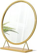 MU Lustro ścienne kosmetyczne lusterko do makijażu z żelaznym stojakiem, 40 cm / 50 cm stół biurko blat lustro, wolnostoją...