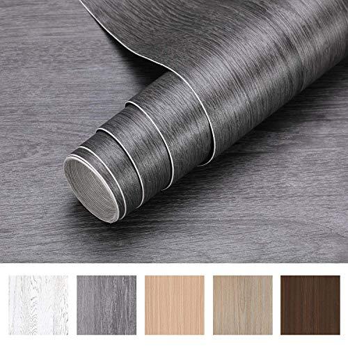 iKINLO Holzoptik Klebefolie Selbstklebend Folie 5 * 0.61M PVC Möbelfolie DIY Vintage Holz Dekorfolie Küchenschrank Aufkleber für Möbel Schrank Tische Wand Tapete
