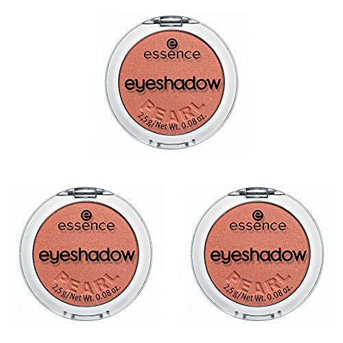 essence eyeshadow, Lidschatten, Nr. 19 Lobster, orange, sofortiges Ergebnis, farbintensiv, intensiv, schimmernd, Nanopartikel frei, ohne Parfüm, 3er Pack (3 x 2,5g)