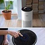 LEVOIT Air Purifier for Home Large Room with H13 True HEPA Filter, Air Cleaner for Allergies and Pets, Smokers, Mold… 12 Professional Air Care: Breathe in air that's free of 99. 97% of 0. 3 micron airborne particles such as dust, and pollen The activated carbon filter absorbs cooking odors, household odors, smoke, and volatile organic compounds (VOCs) Ideal for Allergies and Pet Owners: True HEPA Filter reduces pet odors, and traps pet fur and other contaminants It also helps relieve allergies by capturing airborne contaminants such as dust, pet dander, pollen, and mold. Wide Coverage: Enjoy fresh air in only 30 minutes in rooms as large as 1076ft², and 15 minutes in rooms as large as 538 ft². Maximum benefits 538 ft².