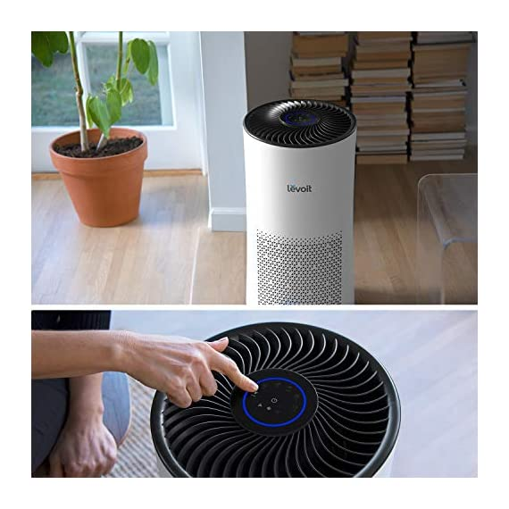 LEVOIT Air Purifier for Home Large Room with H13 True HEPA Filter, Air Cleaner for Allergies and Pets, Smokers, Mold… 4 Professional Air Care: Breathe in air that's free of 99. 97% of 0. 3 micron airborne particles such as dust, and pollen The activated carbon filter absorbs cooking odors, household odors, smoke, and volatile organic compounds (VOCs) Ideal for Allergies and Pet Owners: True HEPA Filter reduces pet odors, and traps pet fur and other contaminants It also helps relieve allergies by capturing airborne contaminants such as dust, pet dander, pollen, and mold. Wide Coverage: Enjoy fresh air in only 30 minutes in rooms as large as 1076ft², and 15 minutes in rooms as large as 538 ft². Maximum benefits 538 ft².
