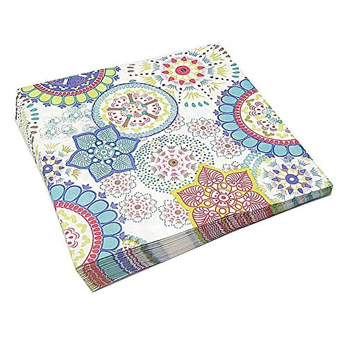 Meioro 4折 ペーパーナプキン 紙ナプキン 印刷 北欧 高級感のある2プライ ペーパーナプキン ヨーロピアンアートなペーパーナプキン 装飾 パーティー