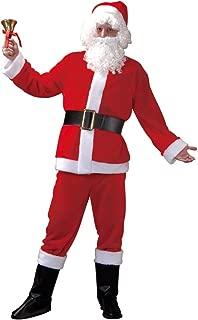 Santa Claus Suit Christmas Costume - Red Coat, Hat, Pants, Belt & Boot Tops