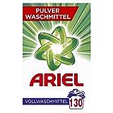 Ariel Vollwaschmittel Pulver Strahlend rein 8kg- 1er Pack (1 x 130 Waschladungen)