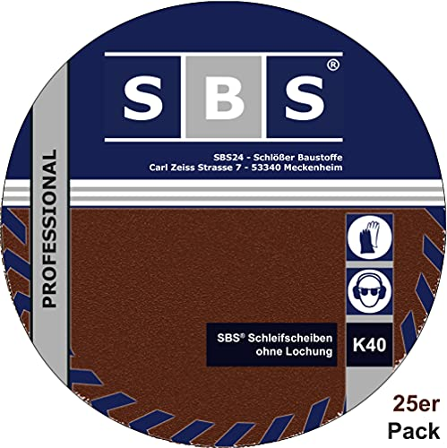 De 25de SBS Velcro lijado (grano 40diámetro 225mm para lijadora (lijadora jirafa