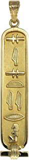 Handmade SISTER Cartouche Pendant - Available in 18K Gold and Sterling Silver - Hieroglyphic Symbols - Made in Egypt