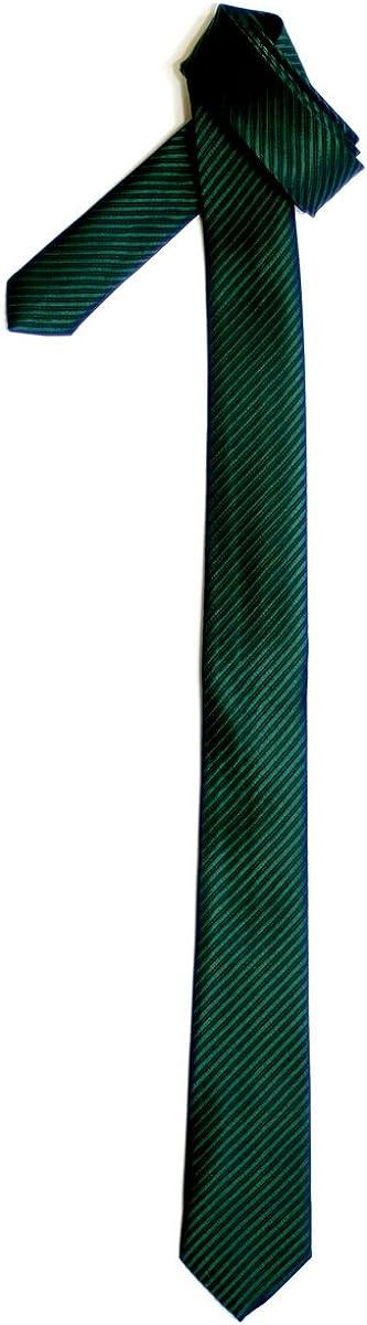 Retreez Skinny Tie Necktie with Stripe Textured