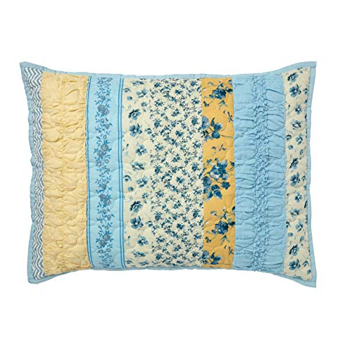 Lowest Prices! BrylaneHome Claudine Floral Printed Sham - King, Blue Pink Floral