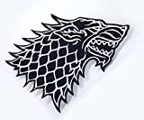 Parche bordado con diseño de casa Stark Direwolf de Juego de Tronos