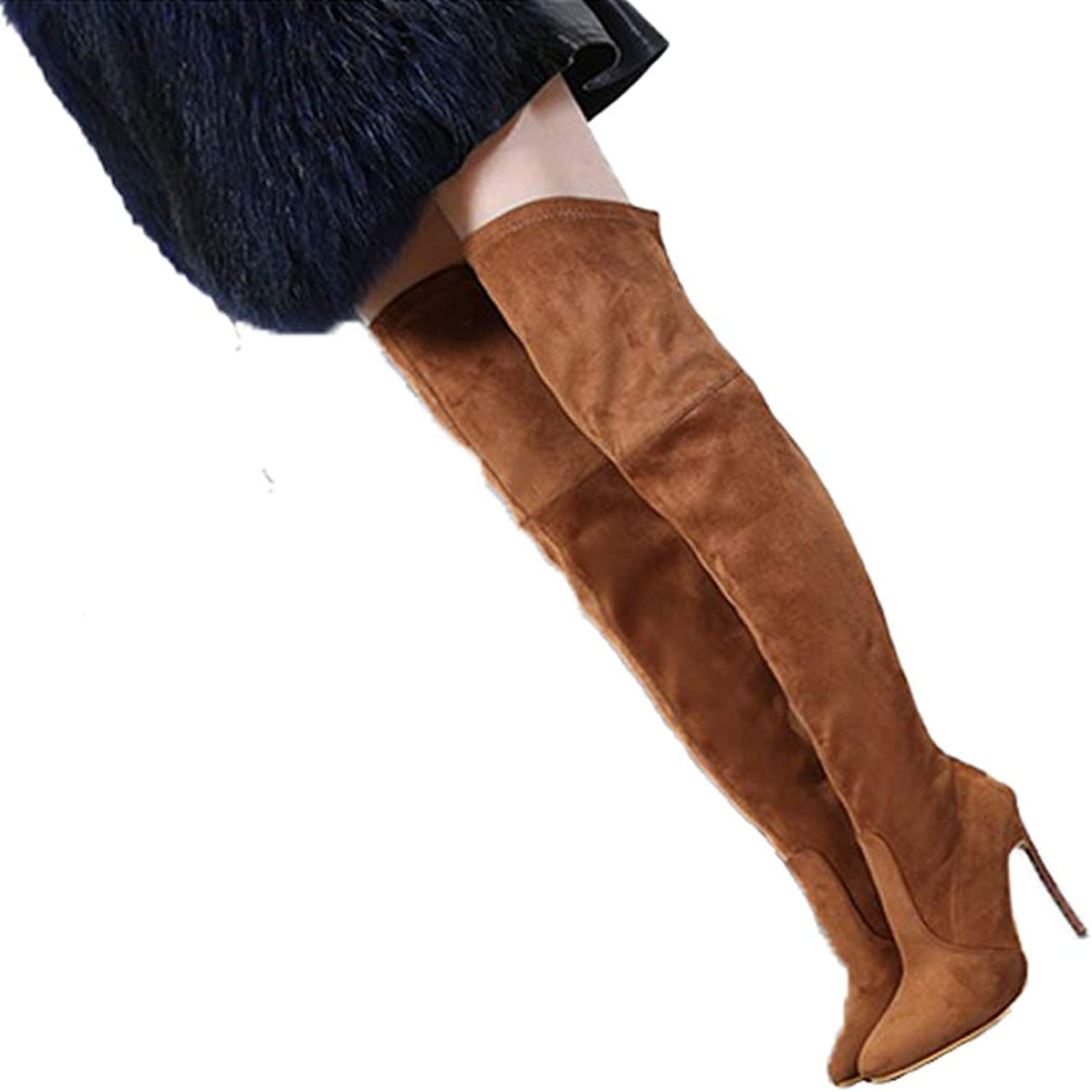 Women High Heels Boots Ladies Over The Knee Autumn Winter Long Boots Thin Heels Thigh High Boots