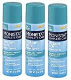 Monistat Care Instant Itch Relief Spray   2 Ounce   Maximum Strength Formula with 20% Benzocaine   (3-pack) Packaging May Vary