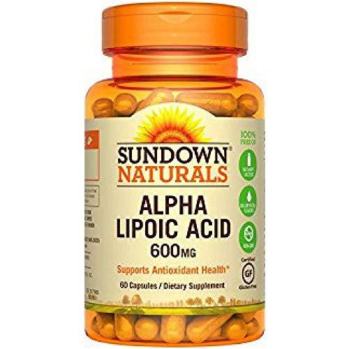 Sundown Naturals Super Alpha Lipoic Acid, 600mg, Capsules 60 ea ( Pack of 2)