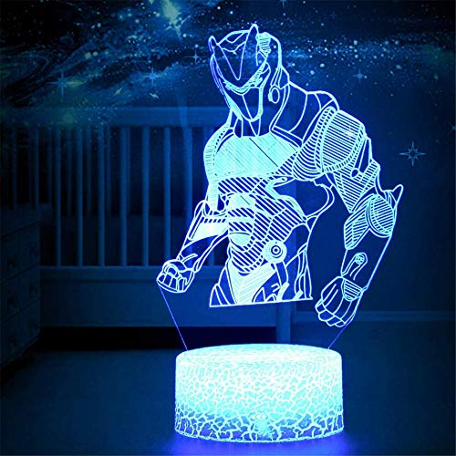Game Series Night Light Omega Raven Scar 3D Lamp 7 Color Table Lava Mood Lamp for Child Christmas Birthday Gifts Fans Omega Crackle Base