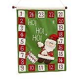 jiheousty Calendario de Adviento de Navidad de 2021 Colgante de Navidad Calendario de Adviento de Fieltro con 24 Días Decoraciones de Calendario de Cuenta Regresiva de Navidad