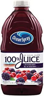 Ocean Spray 100% Juice, Cranberry Blackberry, 60 Ounce Bottle (Pack of 8)