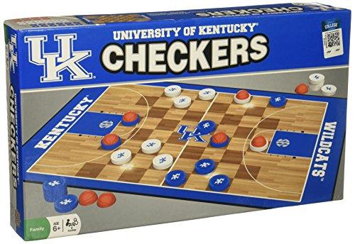 MasterPieces NCAA Kentucky Wildcats Checkers Board Game , 13' x 21'