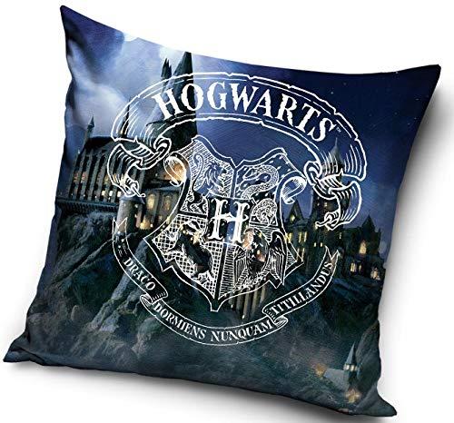 Harry Potter - Funda de cojín decorativa, 40 x 40 cm, poliéster, 40 x 40 cm, Hogwarts