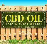 CBD Oil Pain & Joint Relief 13 oz Banner Heavy-Duty Vinyl Single-Sided...